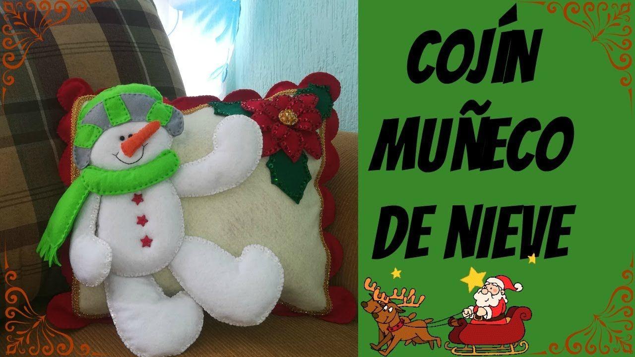 Cojín navideño MUÑECO DE NIEVE! | Velerito | Pinterest | Cojines ...