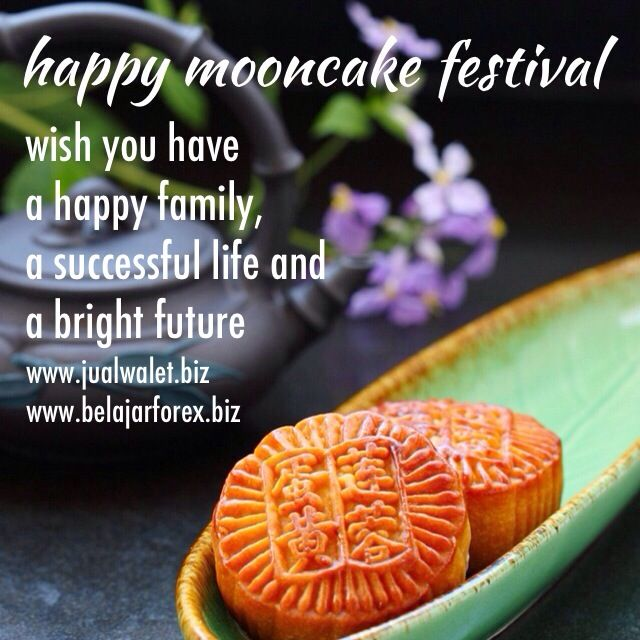 Happy mooncake festival  Wish you have a happy family, a
