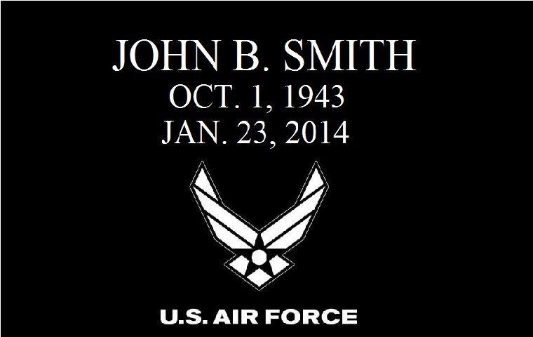 Air Force Air Force Black Granite