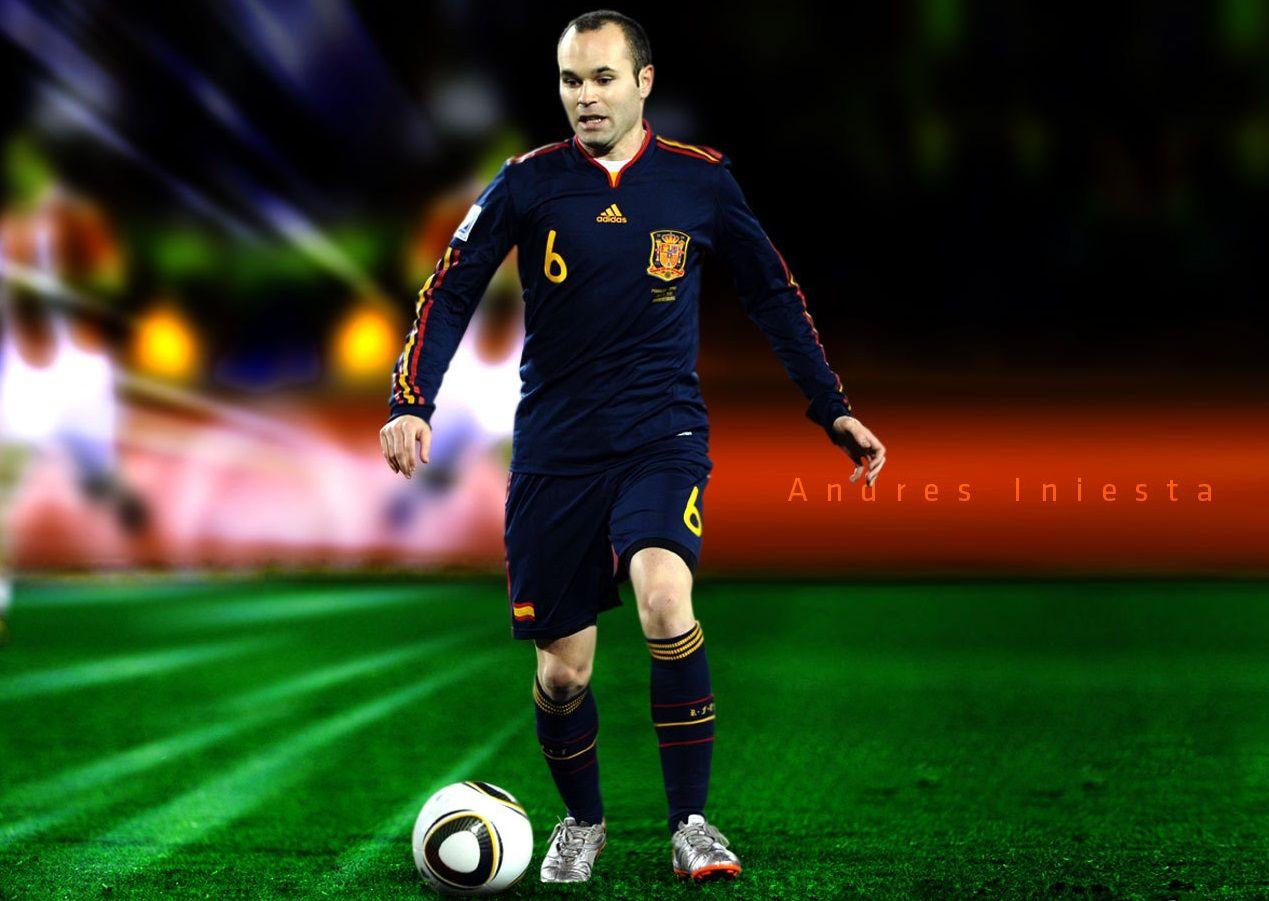 New Andres Iniesta Hd Desktop Wallpaper Iniesta Fifa World Cup Andres Iniesta