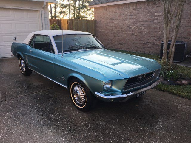 1968 Ford Mustang Original Trim Blue White Top Ford Mustang 1968 Mustang Coupe Mustang