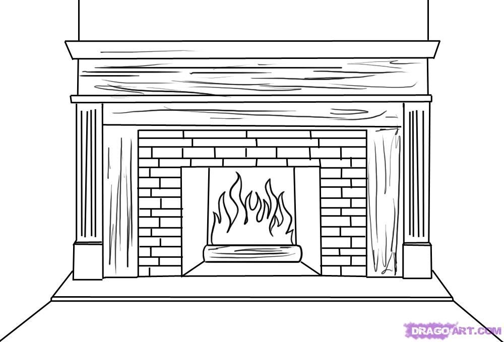 Image result for 1900 fireplace sketch