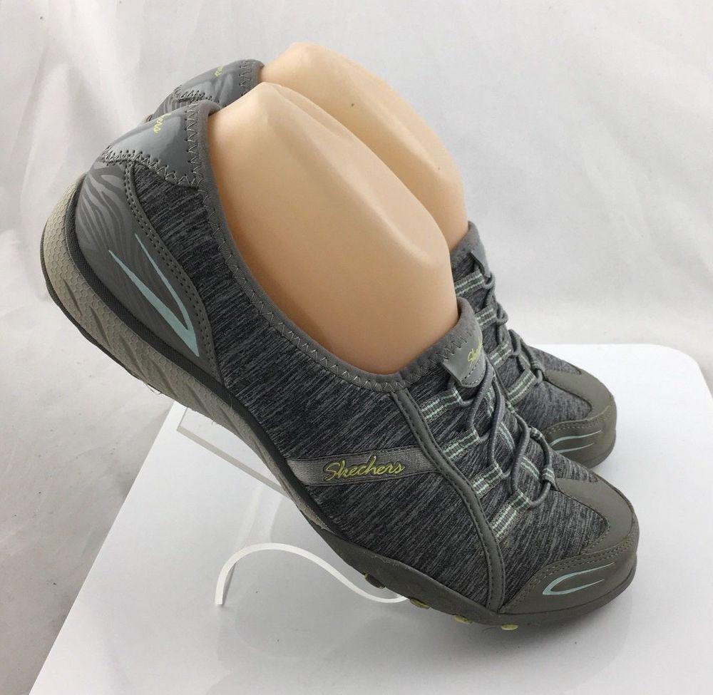 Womens SZ 9M Skechers Slip On Casual Shoes BLACK