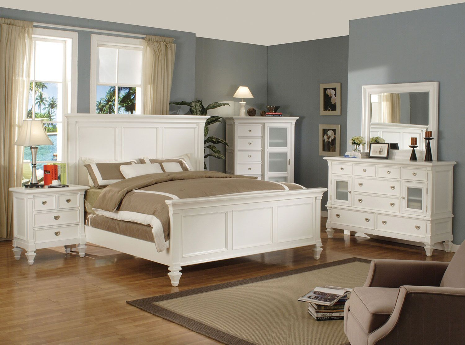 With Just The Right Amount Of Frills The Elegant Shannon King Bedroom Collection Adds Graceful Charm To White Paneling White Bedroom Set White Furniture Sets