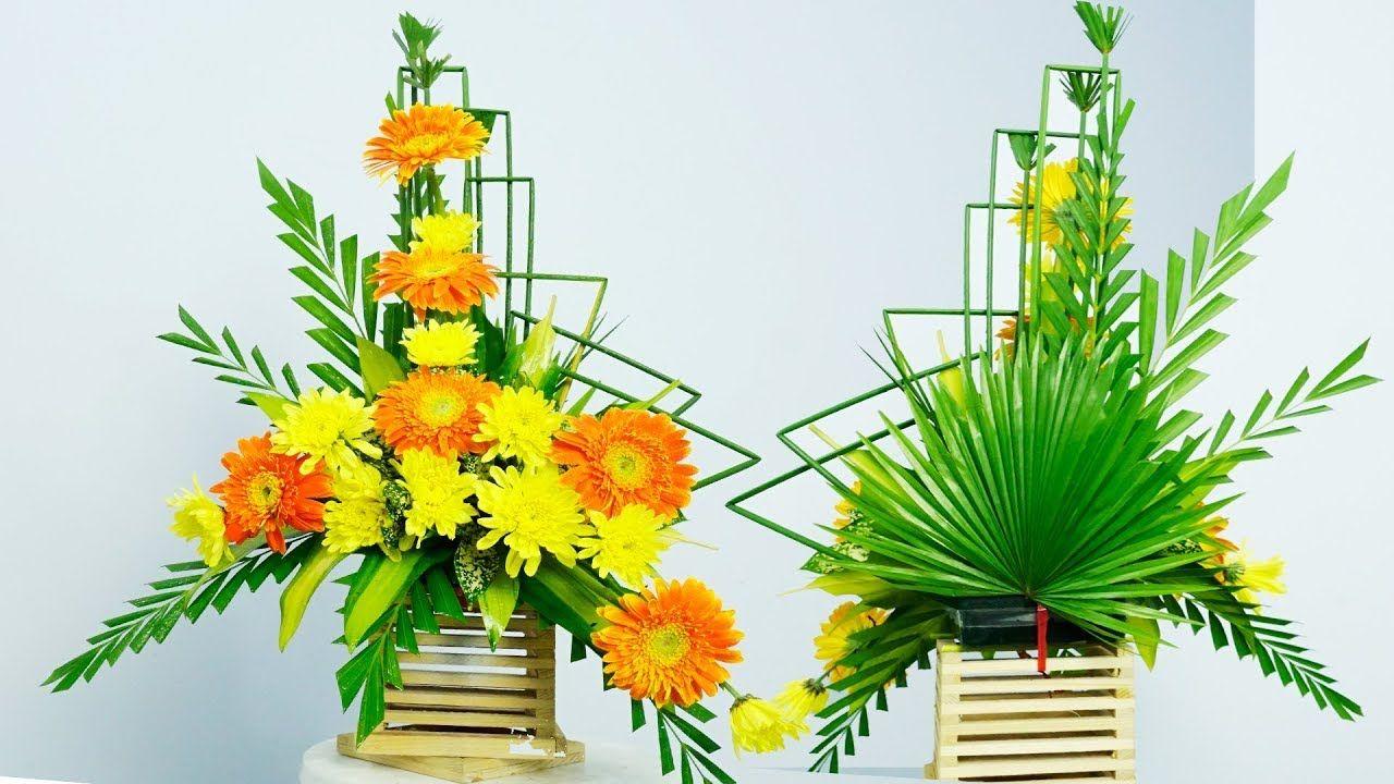 How To Arrange Flower Altar Gerbera Flower Design New Year Eps 194 Flower Arrangements Gerbera Flower Flower Decorations