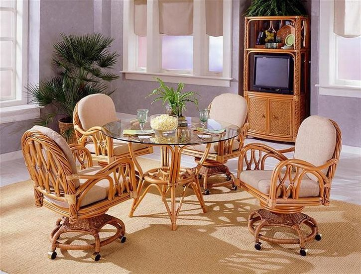 Nice Home With Wicker Dining Chairs Indoor Deluxe Rattan Room