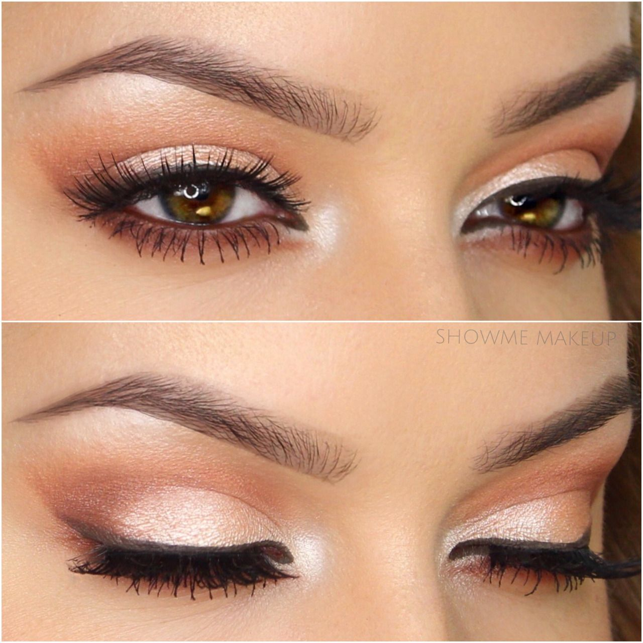 showmemakeup: peachy glowing eyes valentine's day is on the
