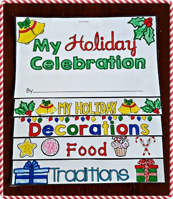 Holiday Traditions Flip Book and Graphic Organizer