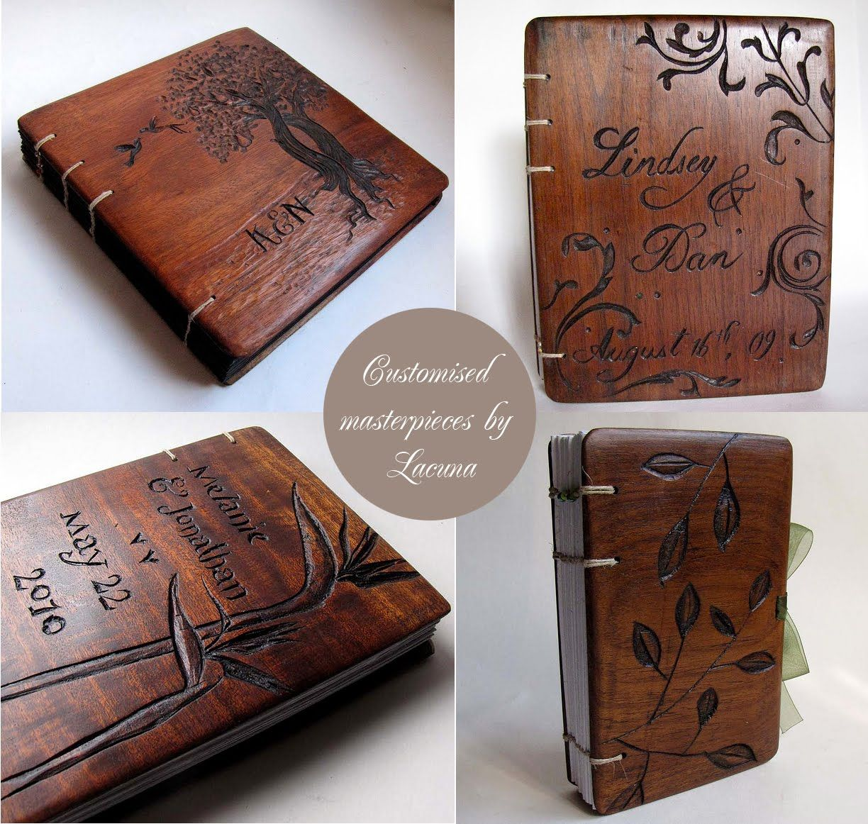 Artnlight Wooden Book Covers By Lacuna Works Wooden Books Homemade Books Handmade Books