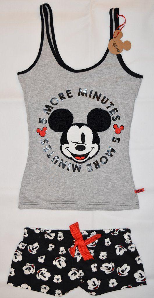 3f521f4fe5a1 PRIMARK Disney Mickey Mouse Vest & Shorts Set PJ PYJAMAS UK Sizes 4 - 20 NEW