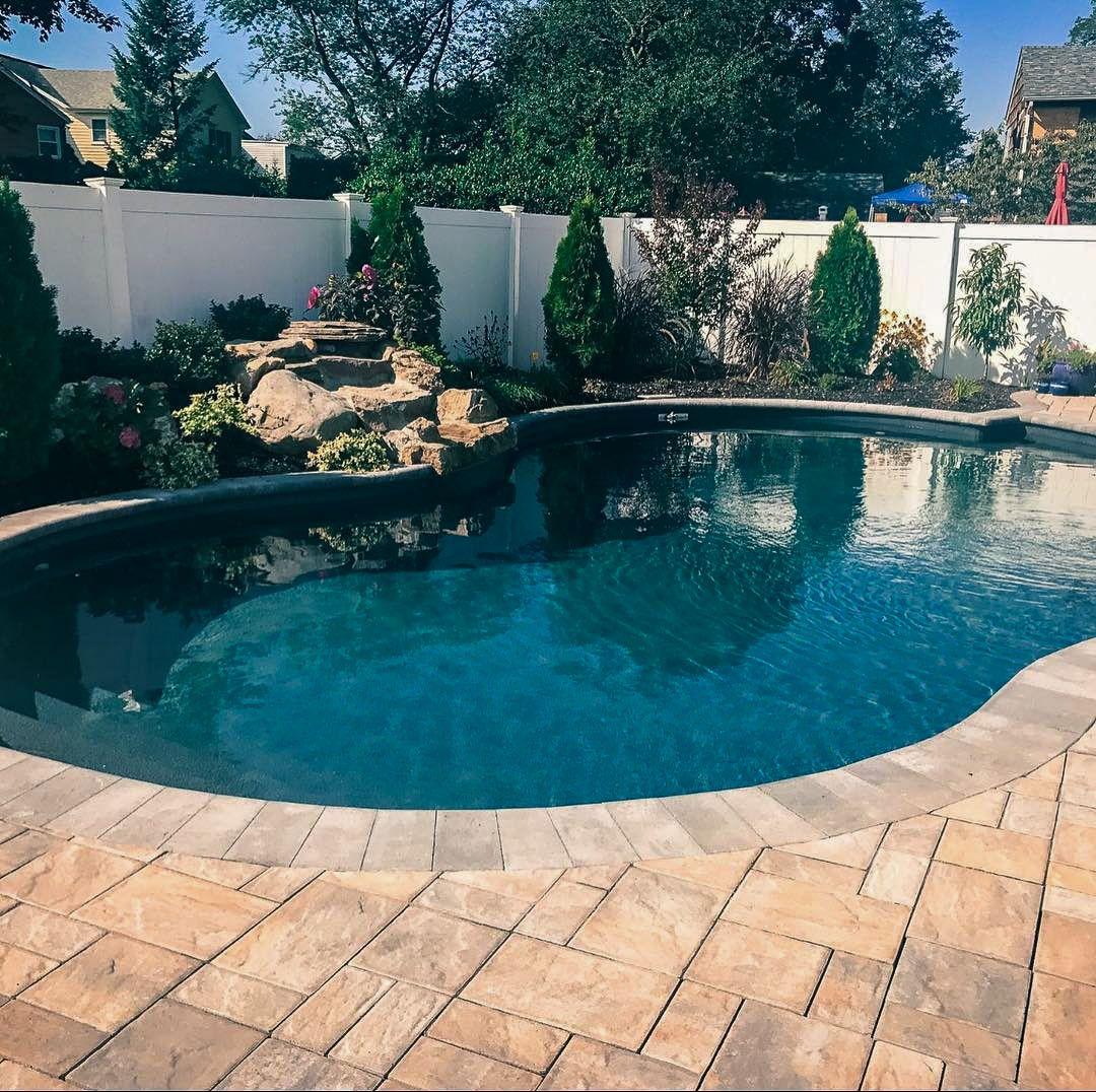 Island Onyx Pool Pool Makeover Vinyl Swimming Pool