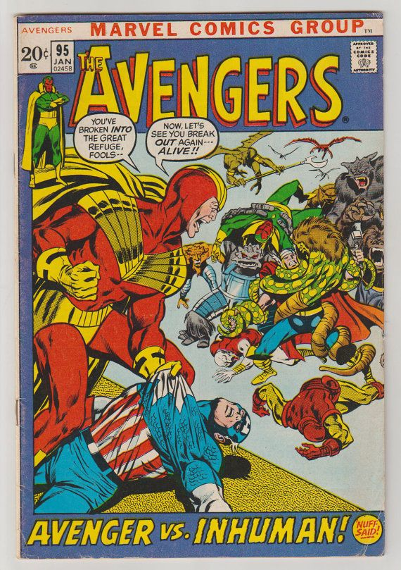 Avengers Vol 1 95 Bronze Age Comic Book. FN. by RubbersuitStudios #avengers…