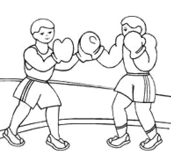 Sport Boxing Coloring Page Coloring Pages Sport Boxing Color