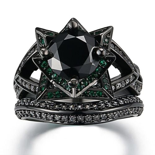 Gothic Wedding Rings.Gothic Wedding Rings Kontemplations In 2019 Cubic Zirconia