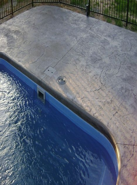 Pool Patio Materials Stamped Concrete Vs Pavers Concrete Pool