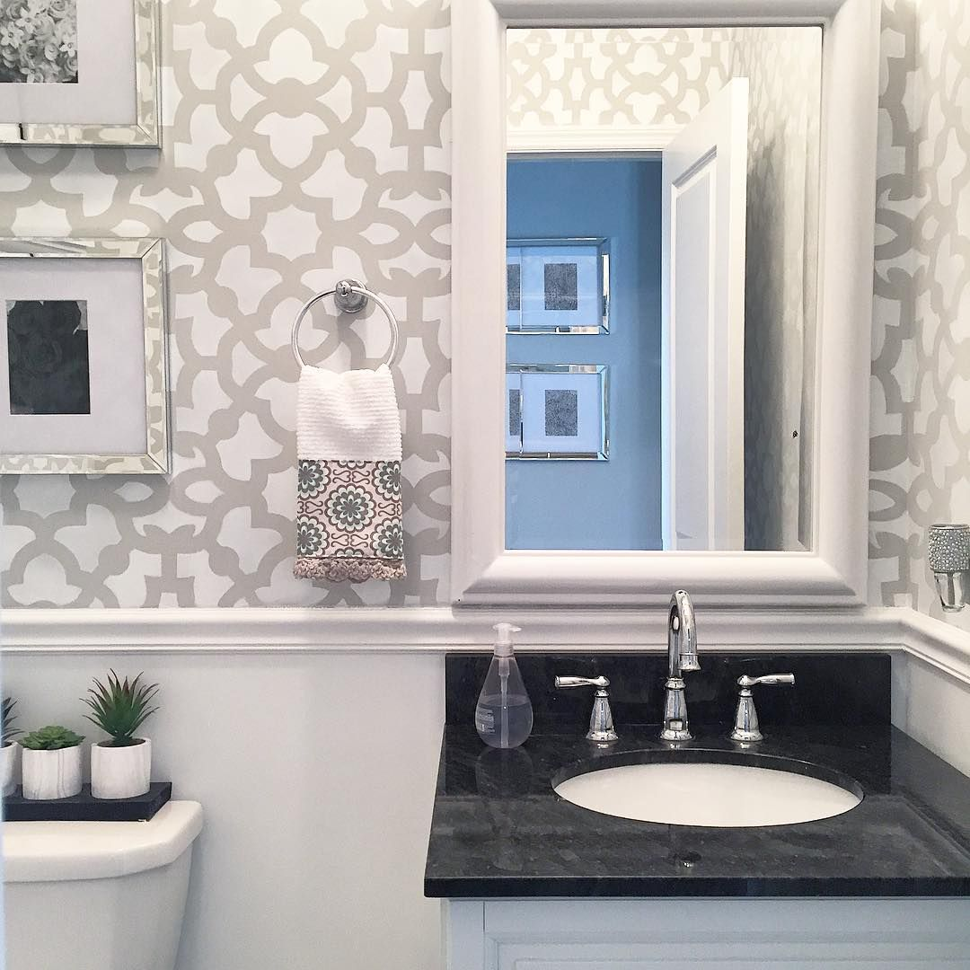 Hopewellhouse used our Zamira Wall Stencil in a neutral