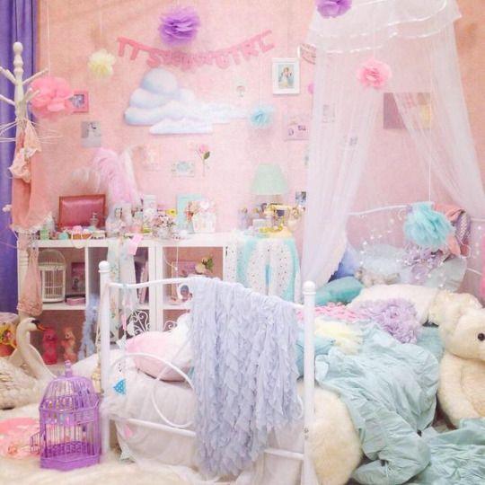 Kawaii Room, Pastel Room, Pastel Room Decor