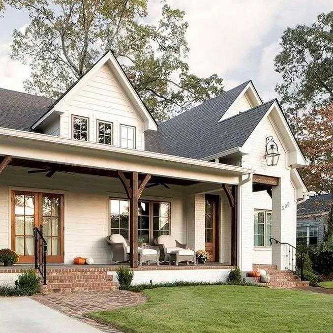 21 Amazing Rustic Farmhouse Exterior Designs Ideas Lmolnar In 2020 Modern Farmhouse Exterior House Designs Exterior Dream House Exterior
