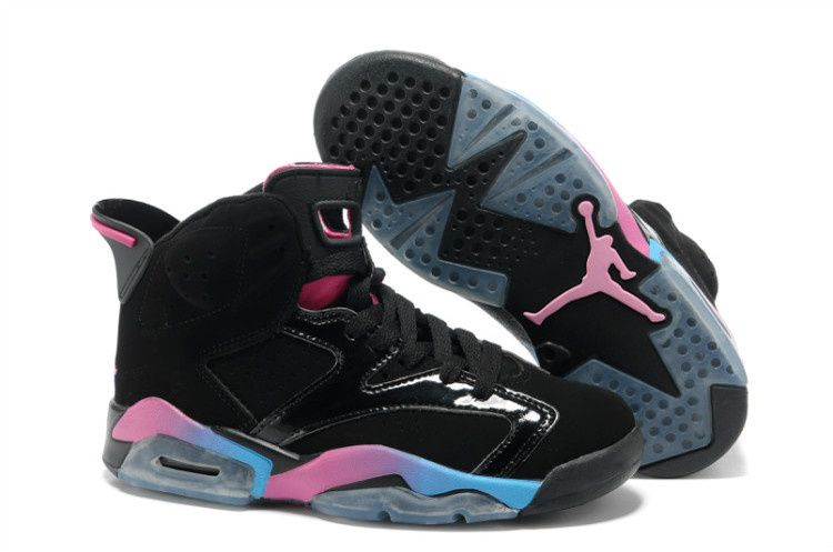 Buy Discount Black Pink Blue Shoes Women Air Jordan 6 Your Best Choice