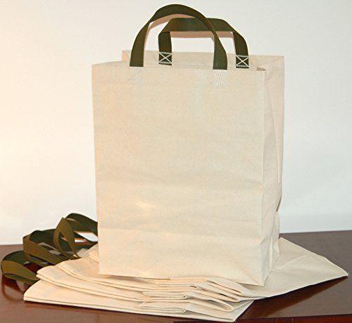 8ea2e1519e7e34 Turtlecreek Cotton Canvas Reusable Grocery Tote Bags - Regular Size - Two  Pack Turtlecreek