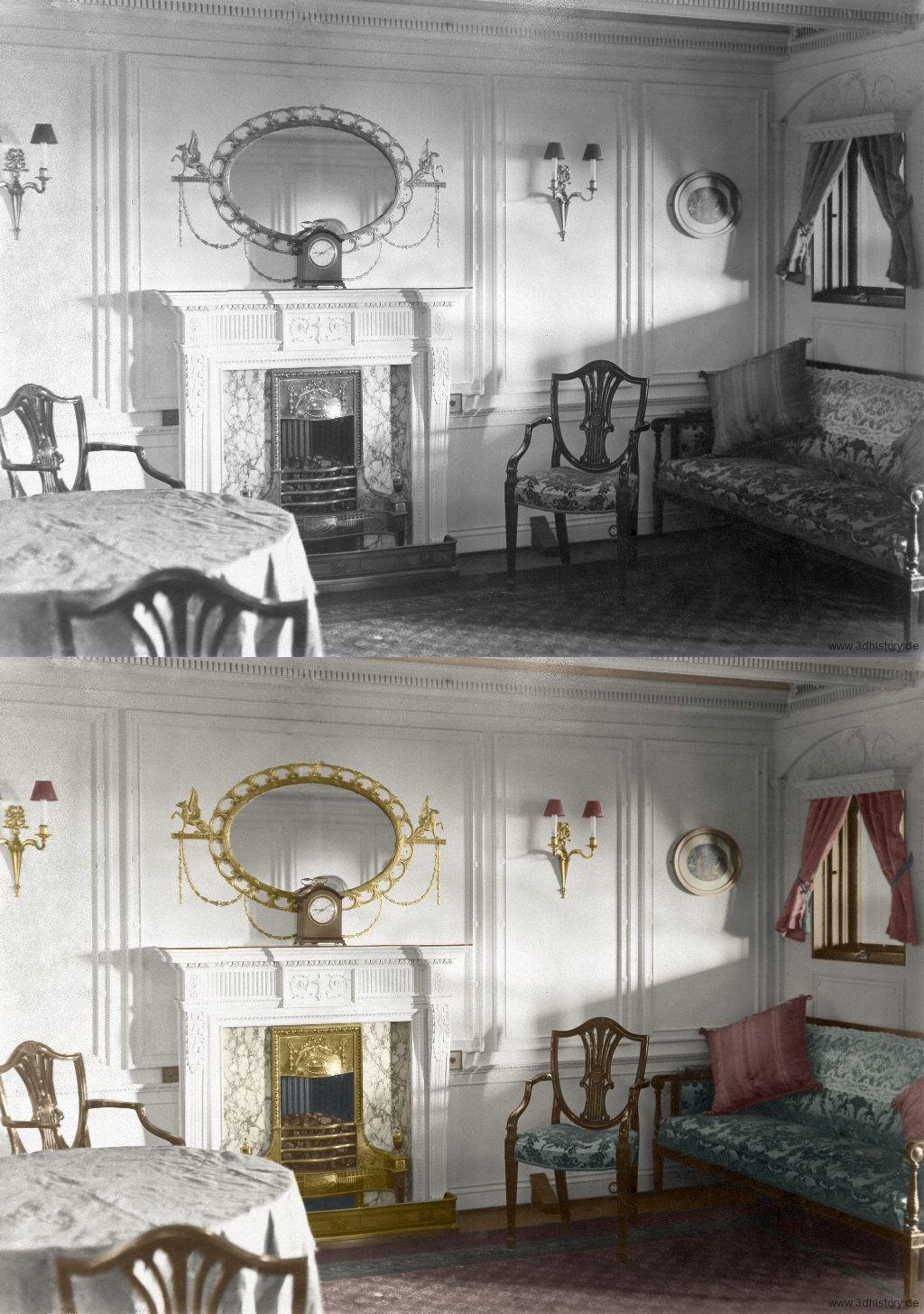 Titanic Engine Room Underwater: Titanic In Color Sitting Area