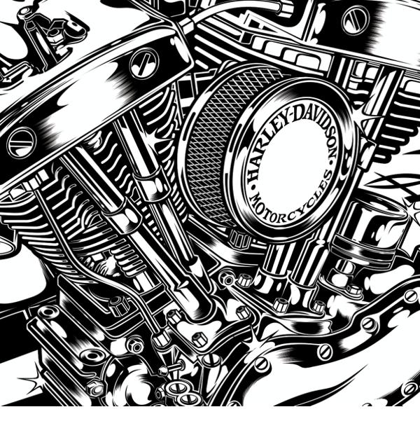 http dvicente art prosite com 19801 493361 illustration design for rh pinterest com harley davidson engine parts for sale harley davidson engine timeline