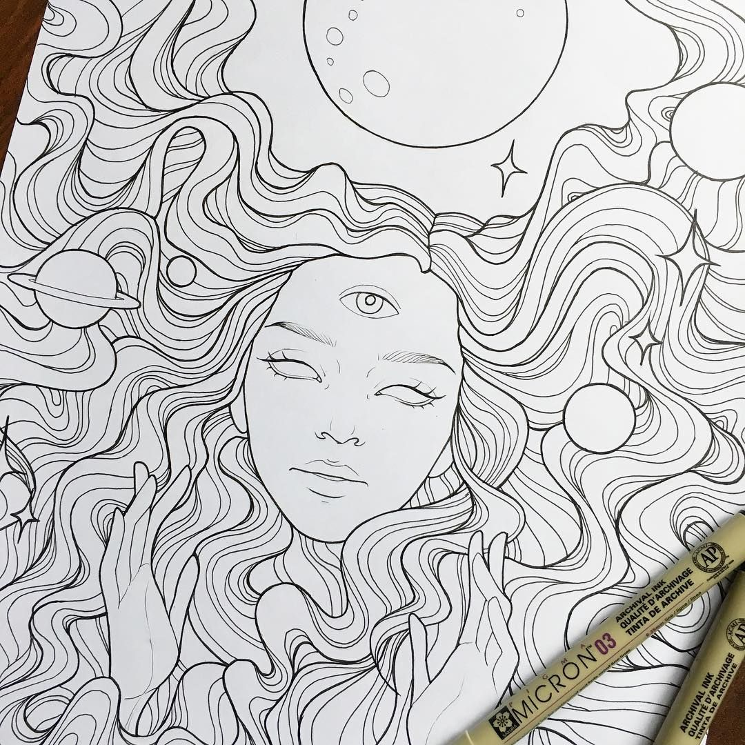 Eye Trippy Coloring Pages For Adults