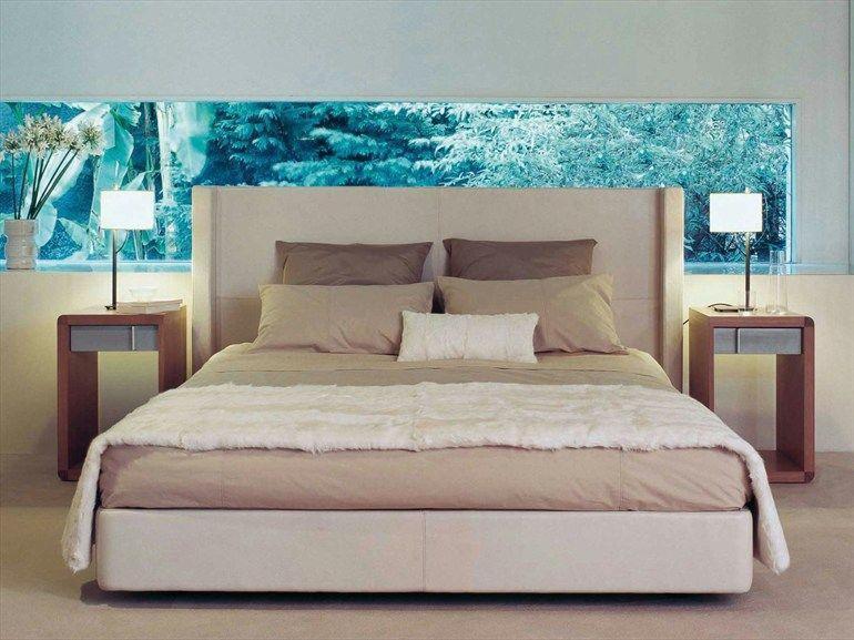 lit double en cuir rive droite collection les contemporaines by roche bobois design christophe. Black Bedroom Furniture Sets. Home Design Ideas