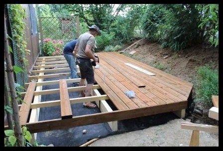Comment faire soi-même sa terrasse en bois Idée maison Pinterest