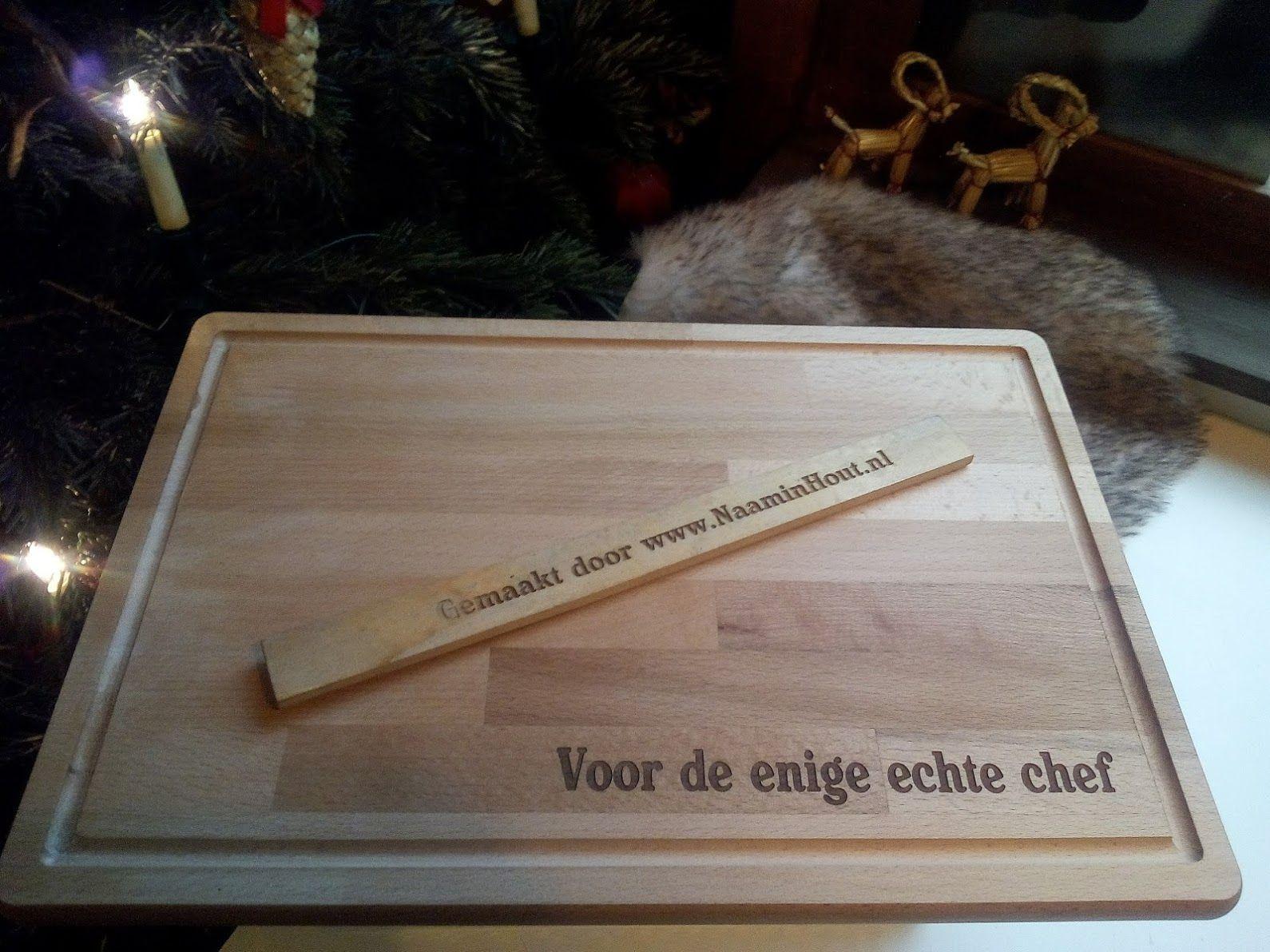 Onwijs Snijplank als kado met eigen tekst. #snijplank, #graveren, #hout KP-98