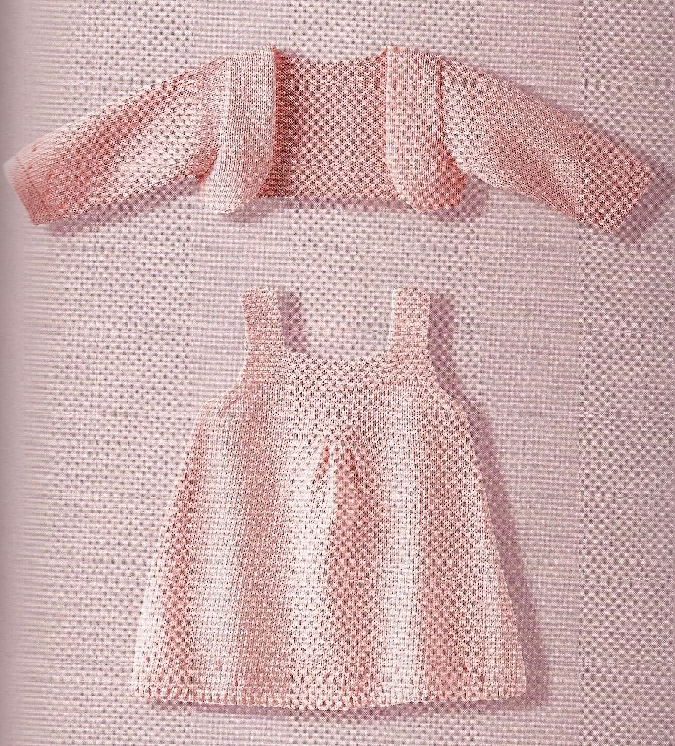77f98be2529d In Italian  ( sweet dress   shrug for baby ~ free pattern