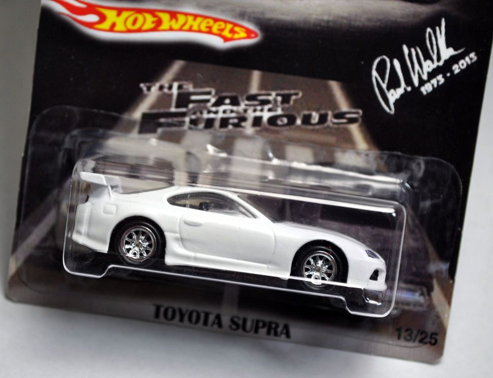 Hot Wheels 2015 Fast Furious 7 Brian White Toyota Supra Paul Walker 1994 94  #13