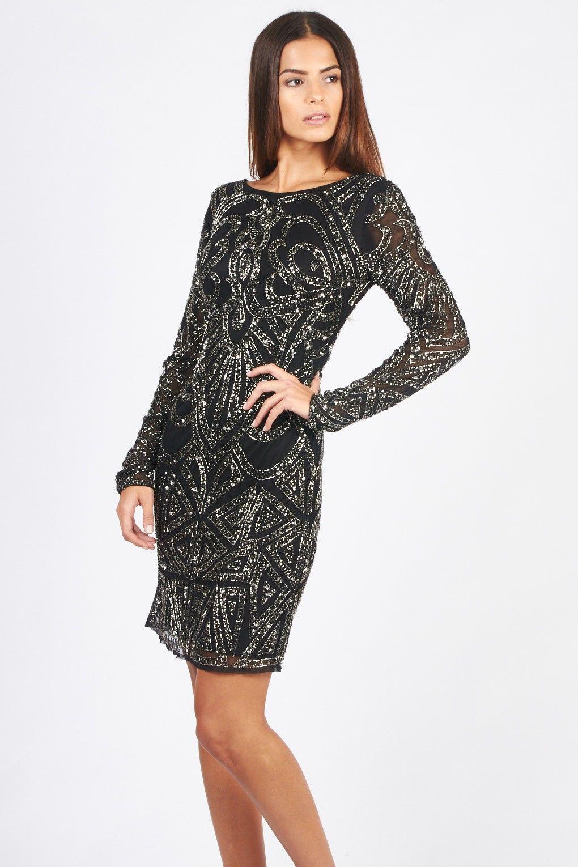 Lace & Beads Brooklyn Black Embellished Dress | Want It | Pinterest