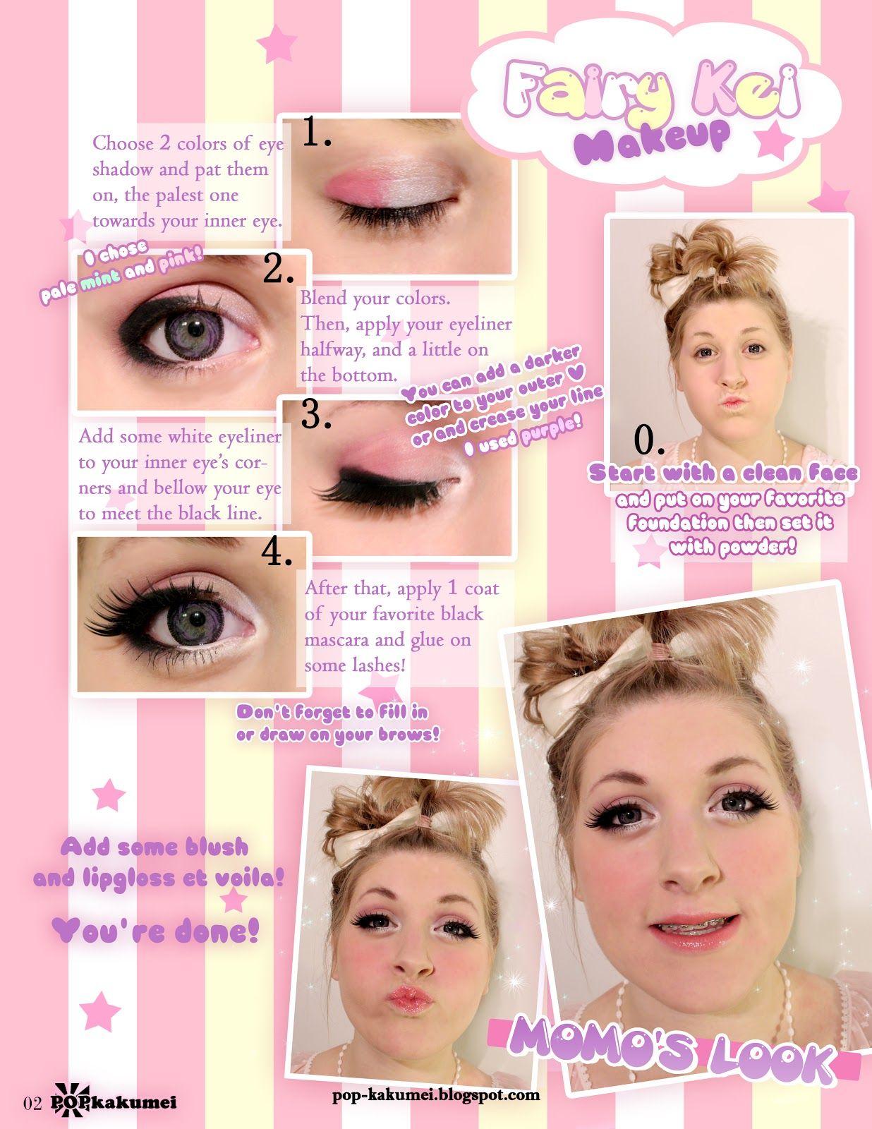 Popkakumei fairy kei kawaii pinterest fairy makeup pretty fairy kei makeup ill have to try baditri Image collections