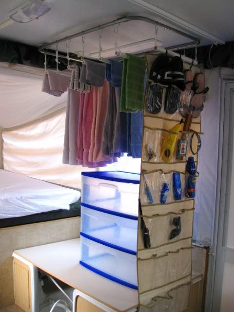 Clever Idea Camper Pop Up Camper Organization Ideas
