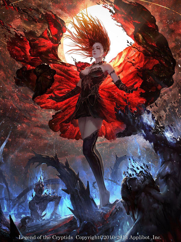 loc card by fangogogo female cleric priestess wizard witch sorcerer sorceress warlock armor