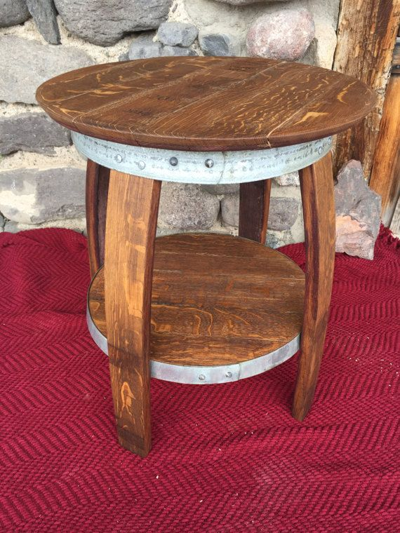 Elegant Wine Barrel Table and Stools