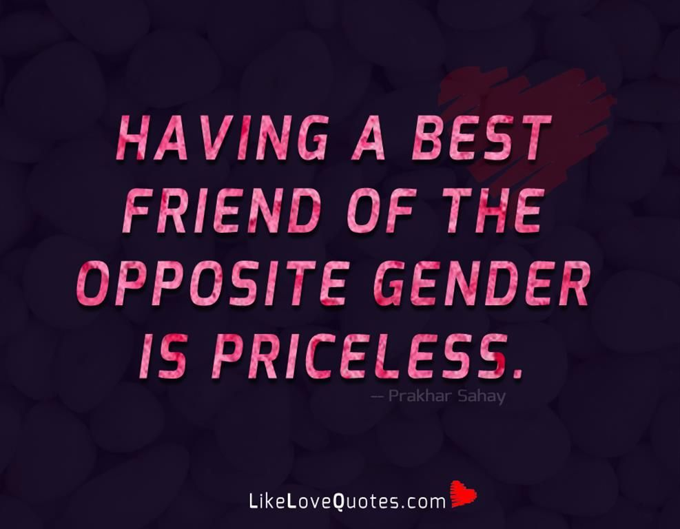 Can opposite sexes be best friends