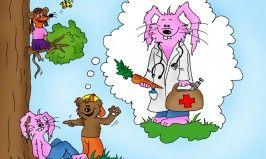 Hasen werden auch schnell mal als Medizinmann gebraucht. Ob sie wollen oder nicht.....