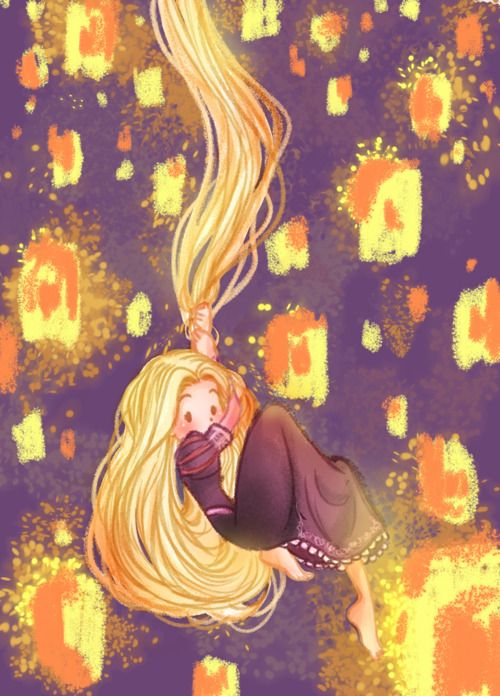 Rapunzel and the floating lights~  by Natalia Fanchini