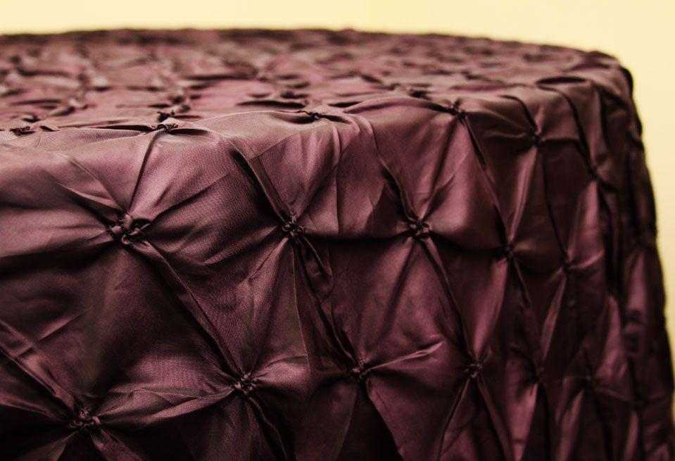 120 Inch Pinchwheel Tablecloth Plum At CV Linens