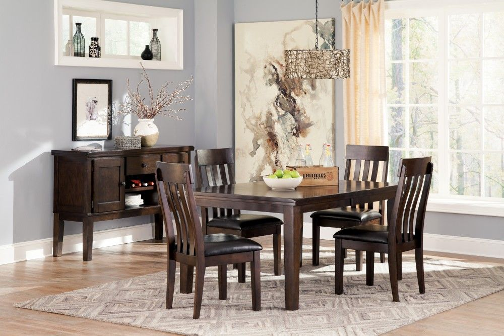 Haddigan RECT Dining Room EXT Table & 4 UPH Side Chairs images