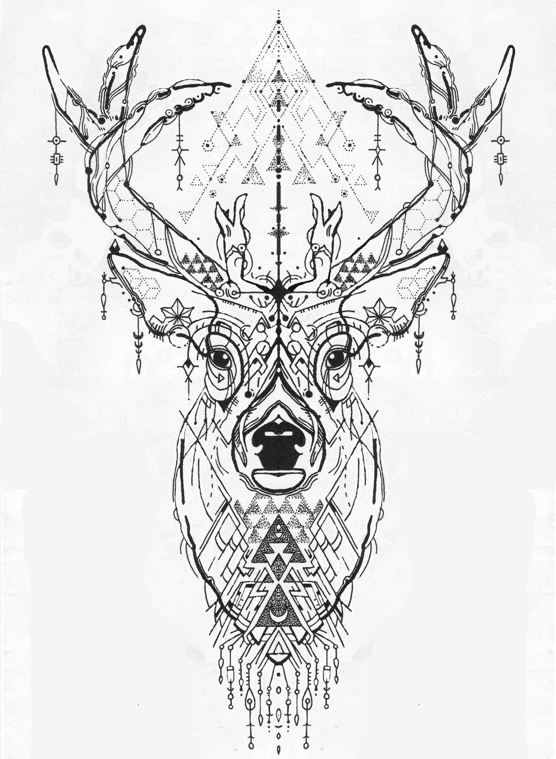 pingl par saya elis sur art inspiration tattoos deer tattoo et tattoo designs. Black Bedroom Furniture Sets. Home Design Ideas