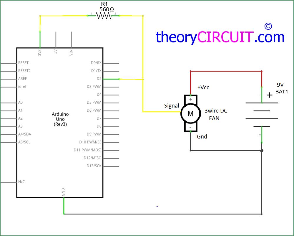reading dc fan rpm arduino schematic [ 999 x 801 Pixel ]