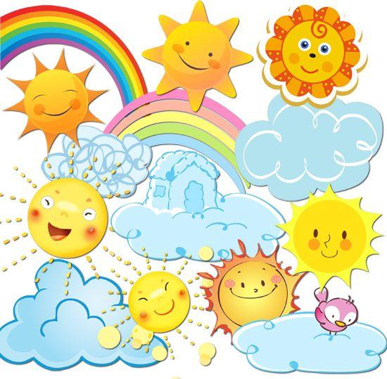 картинки радуга для детей на прозрачном фоне
