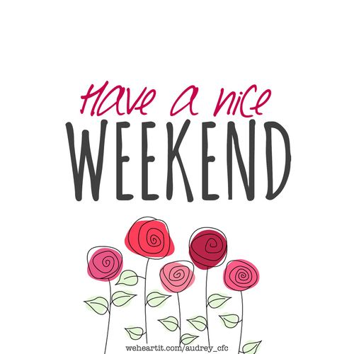 Have a good weekend clipart - Week end a nice ...