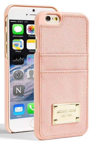 6dddcef0d073 Free shipping and returns on MICHAEL Michael Kors Card Holder iPhone 6 Case  at Nordstrom.com. A polished logo plate elevates a hard-shell iPhone case  that ...