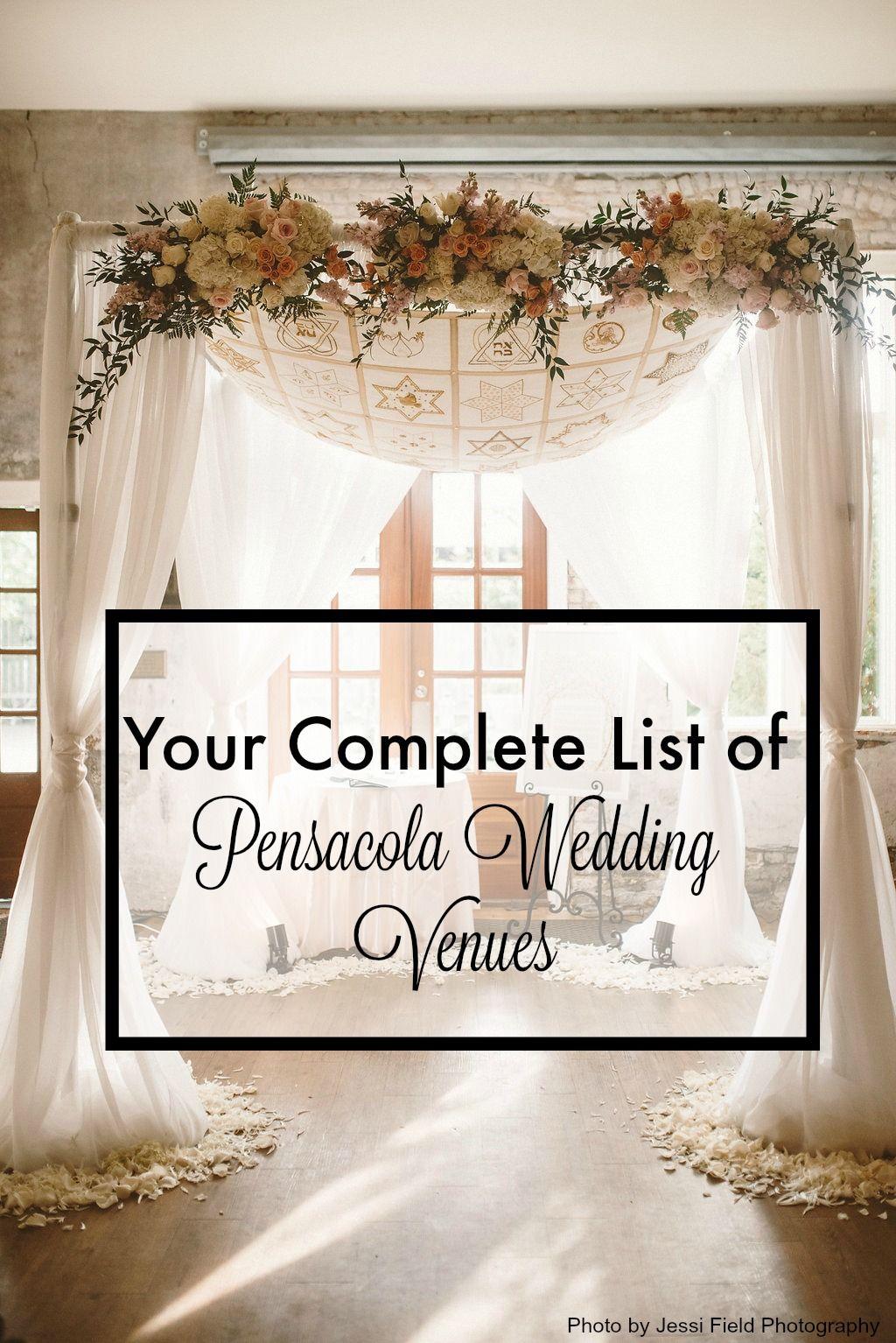 Complete List Of Pensacola Wedding Venues Florida Wedding Venues