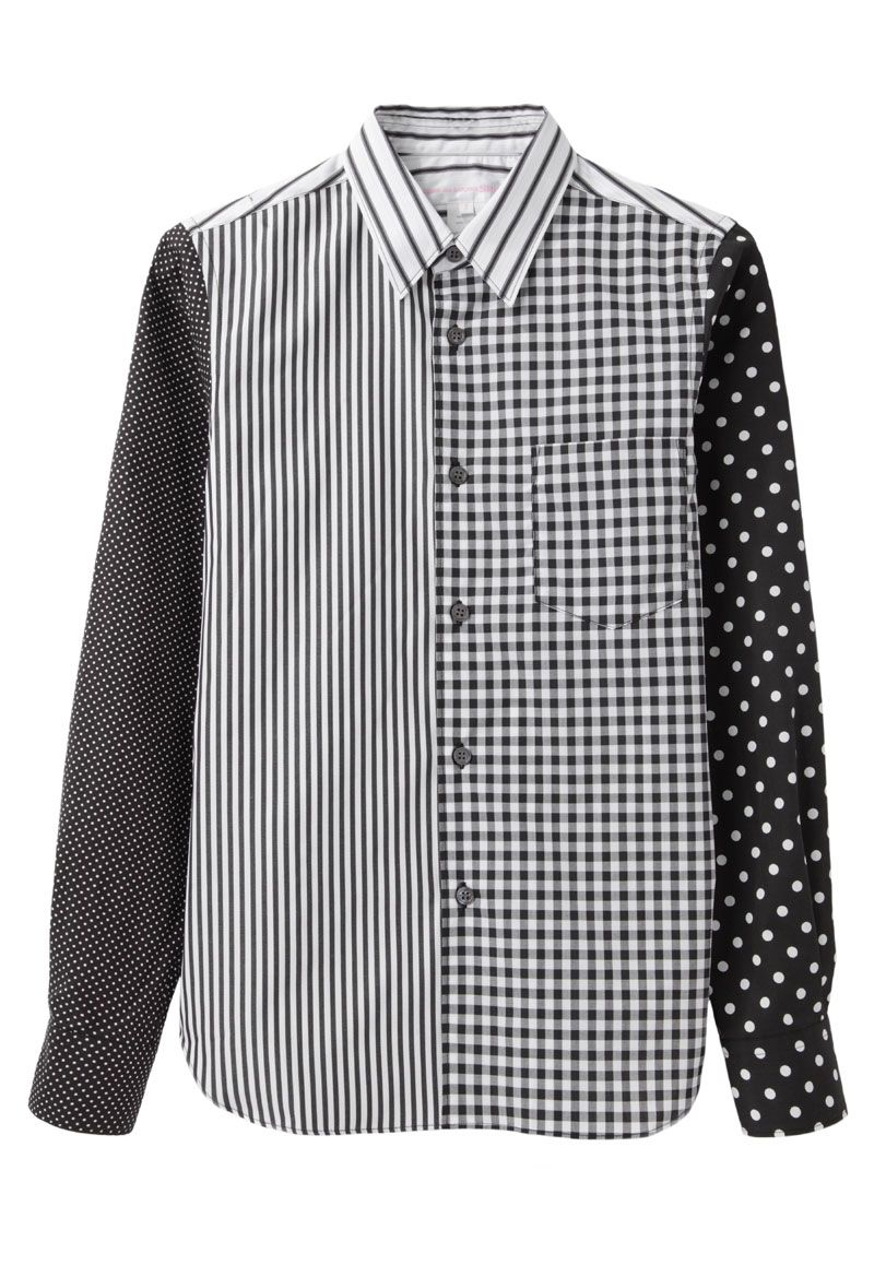 ff38660784 desperately need this. Comme des Garçons Shirt / Mixed Print Shirt ...