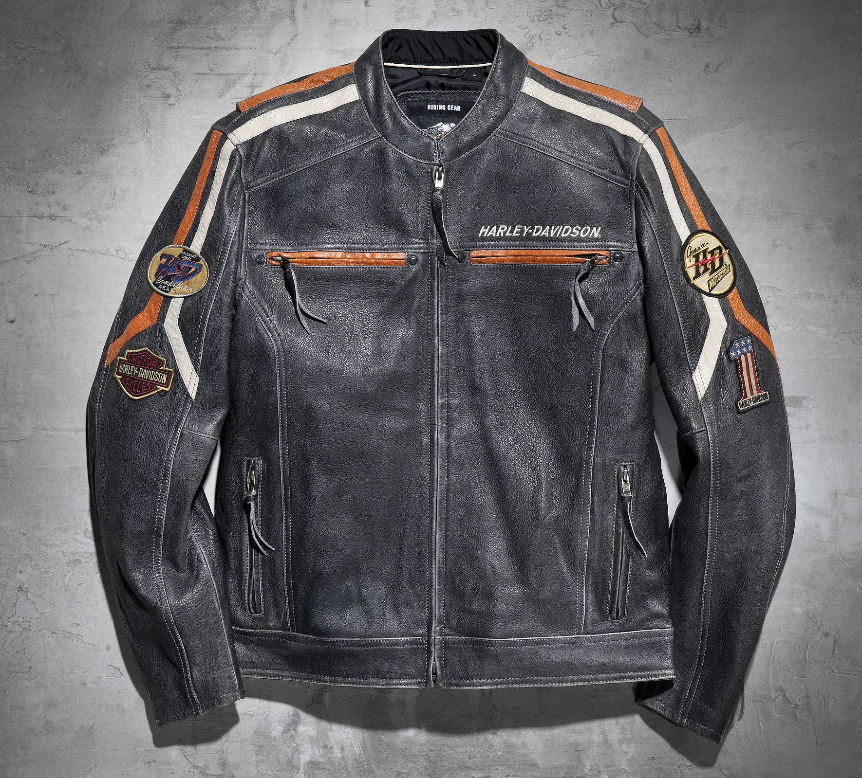 Men's Boulevard Leather Jacket Leather Official Harley